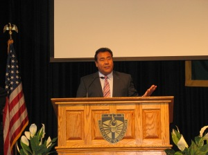 John Quinones discussed diversity in the newsroom and the world.